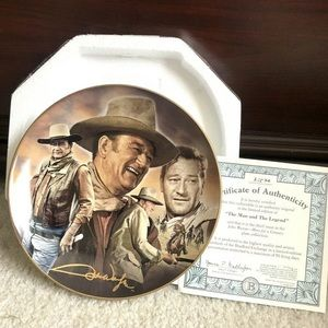 John Wayne The Man & The Legend Collectible Plate